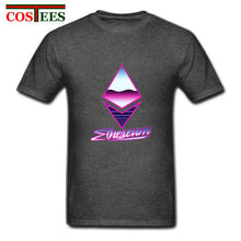 Load image into Gallery viewer, Ethereum Logo T-Shirt homme 80s 90s retro cool T-Shirt