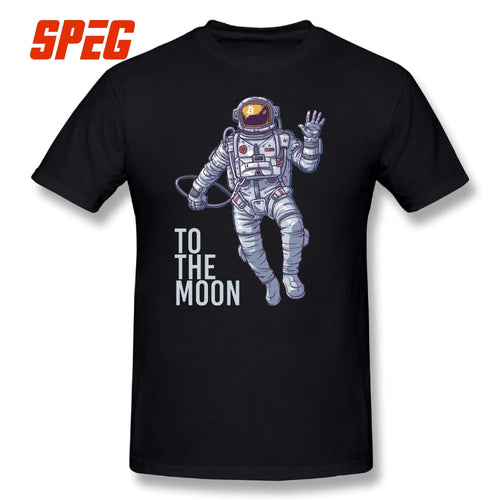 Bitcoin Astronaut to the Moon Cryptocurrency T-Shirt