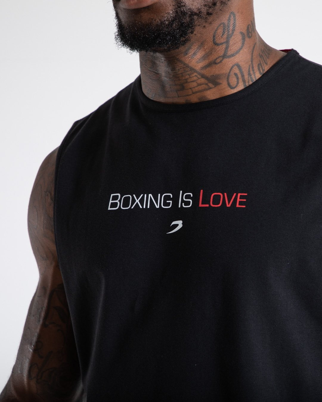 BOXING IS LOVE MUSCLE TANK - BLACK.