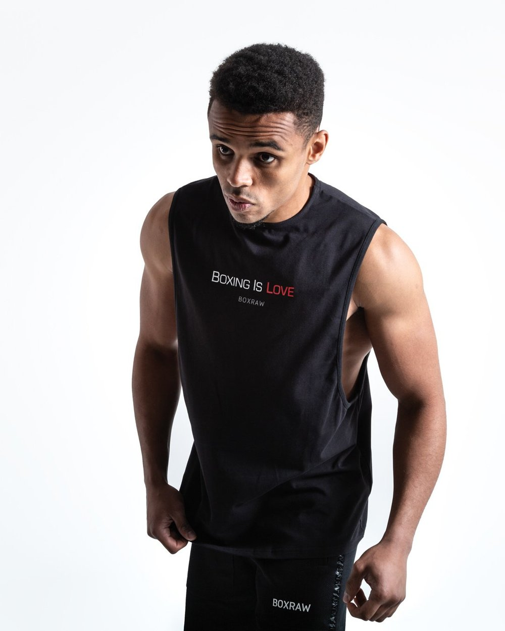 BOXING IS LOVE MUSCLE TANK - BLACK - Pandemic Fight Gear Inc.