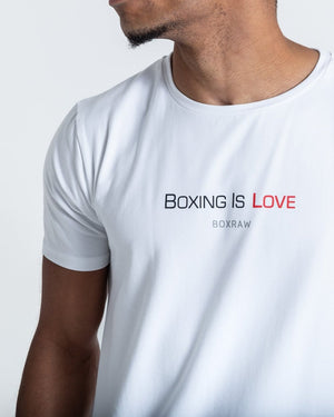 BOXING IS LOVE T-SHIRT - WHITE - Pandemic Fight Gear Inc.