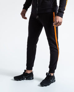 LOMA MARCIANO BOTTOMS - BLACK/ORANGE - Pandemic Fight Gear Inc.