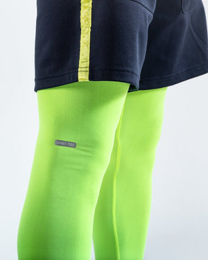OG LOMA PEP SHORTS (2-IN-1 TRAINING TIGHTS) - NAVY/YELLOW - Pandemic Fight Gear Inc.