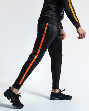 LOMA WHITAKER BOTTOMS - BLACK/ORANGE - Pandemic Fight Gear Inc.