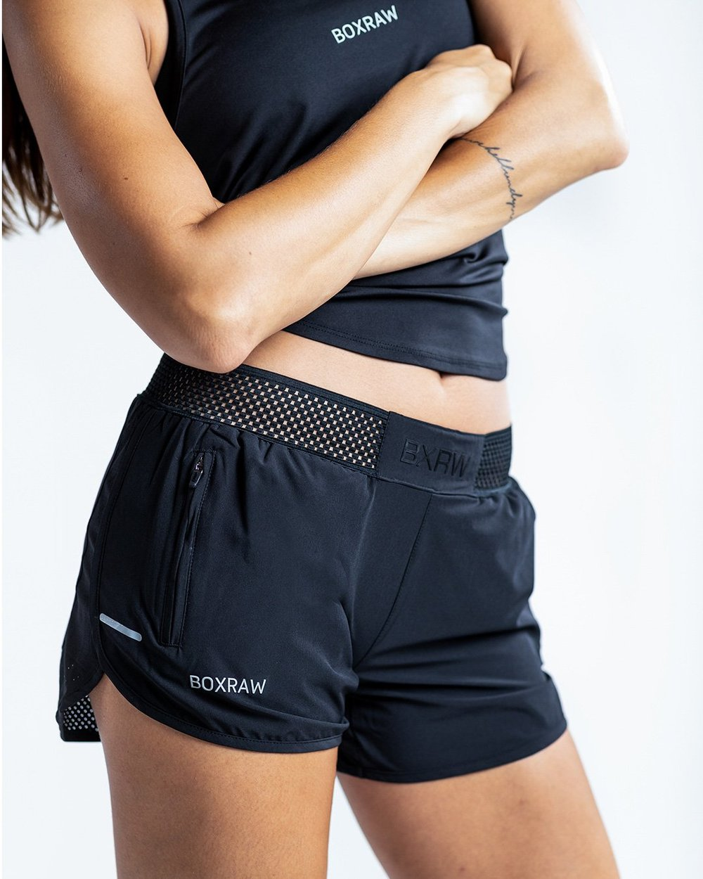 WOMEN'S LAILA SHORTS - BLACK - Pandemic Fight Gear Inc.