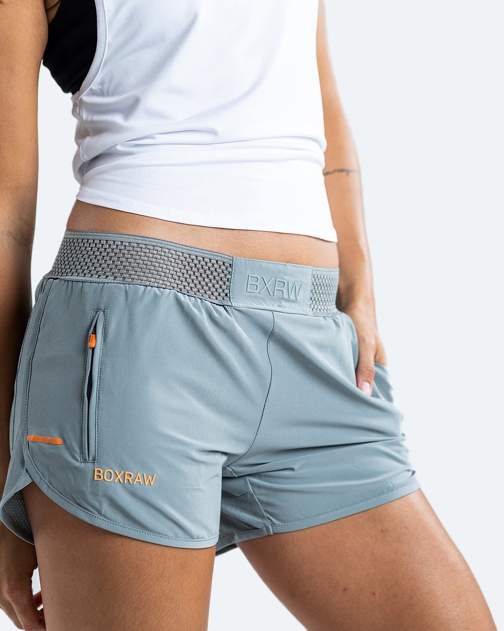 WOMEN'S LAILA SHORTS - GREY - Pandemic Fight Gear Inc.