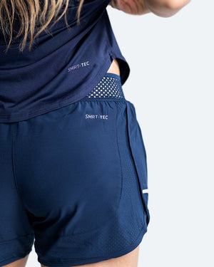 WOMEN'S LAILA SHORTS - NAVY - Pandemic Fight Gear Inc.