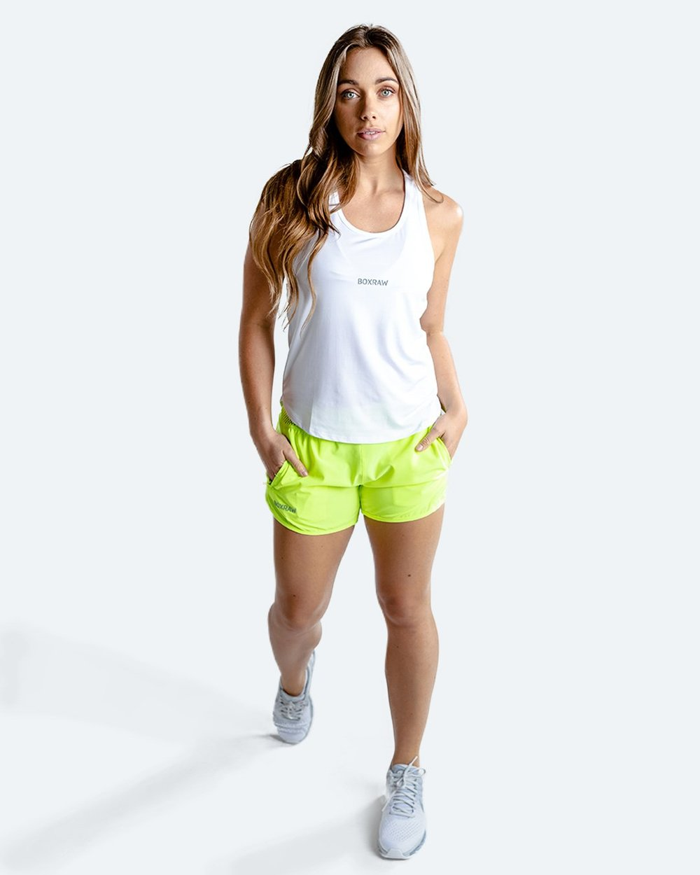 WOMEN'S LAILA SHORTS - YELLOW - Pandemic Fight Gear Inc.