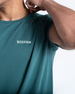 BOXRAW LOGO T-SHIRT - GREEN - Pandemic Fight Gear Inc.