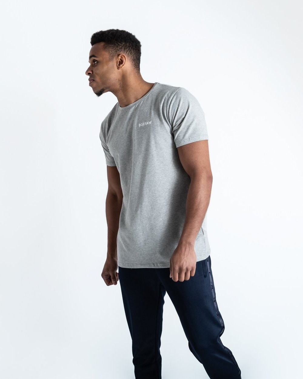 BOXRAW LOGO T-SHIRT - GREY - Pandemic Fight Gear Inc.