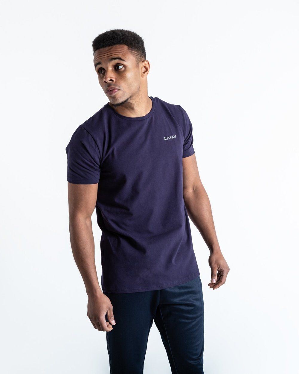 BOXRAW LOGO T-SHIRT - NAVY - Pandemic Fight Gear Inc.