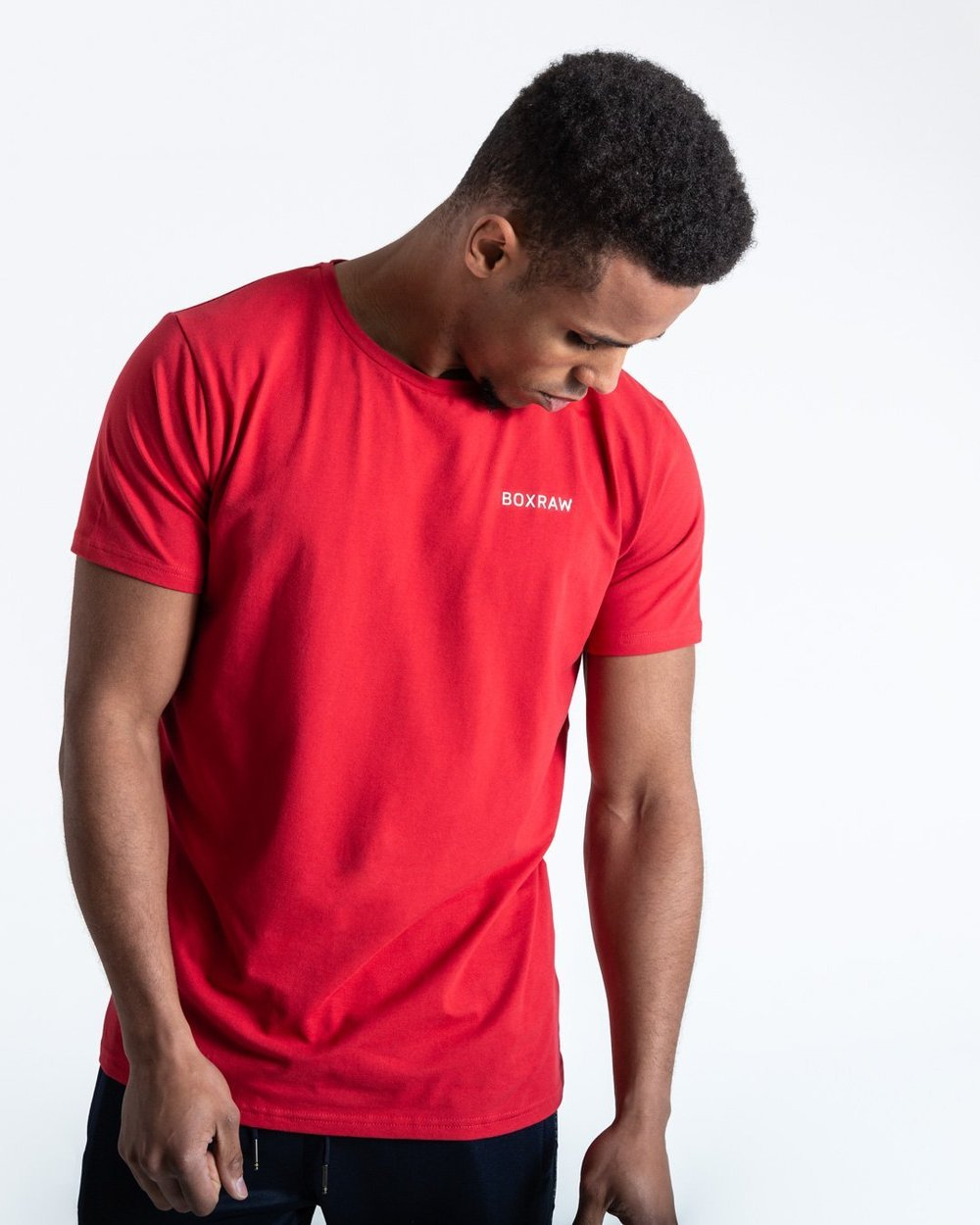 BOXRAW LOGO T-SHIRT - RED - Pandemic Fight Gear Inc.