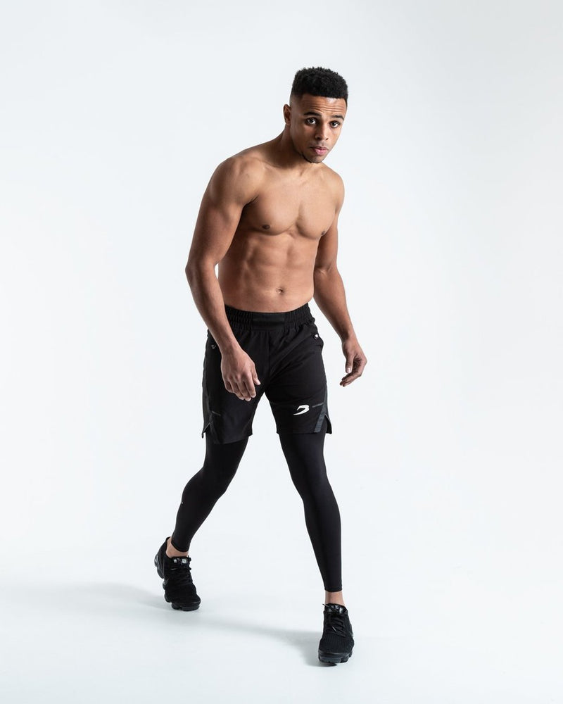 PEP SHORTS (2-IN-1 TRAINING TIGHTS) - BLACK