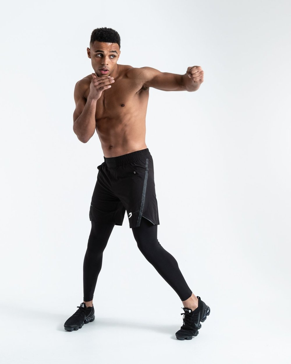 PEP SHORTS (2-IN-1 TRAINING TIGHTS) - BLACK - Pandemic Fight Gear Inc.