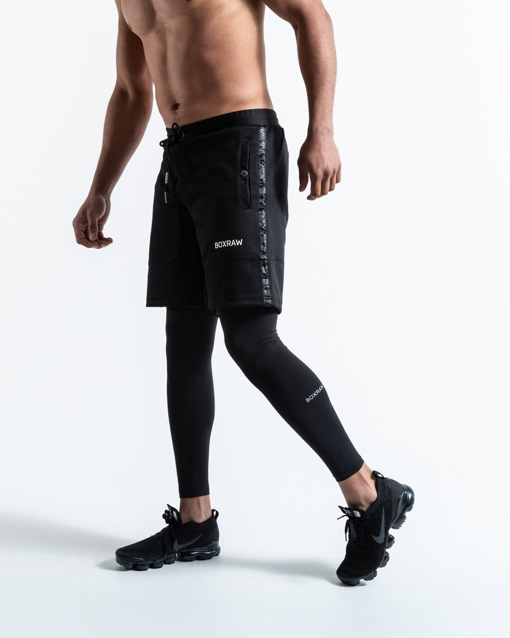 PEP SHORTS (2-IN-1 TRAINING TIGHTS) BLACK - Pandemic Fight Gear Inc.