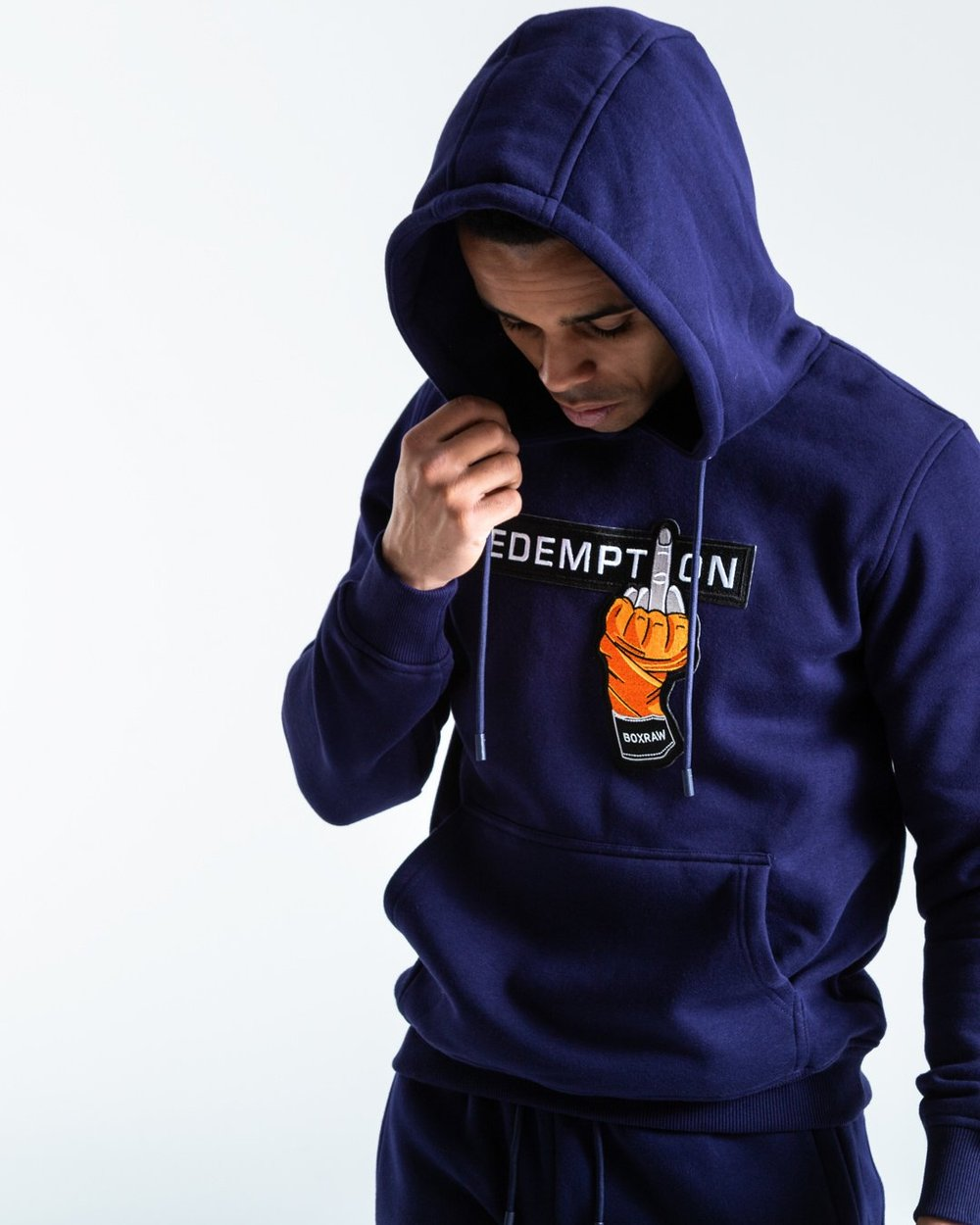 REDEMPTION HOODIE - NAVY - Pandemic Fight Gear Inc.