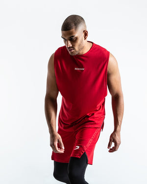 SMRT-TEC MUSCLE TANK - RED - Pandemic Fight Gear Inc.