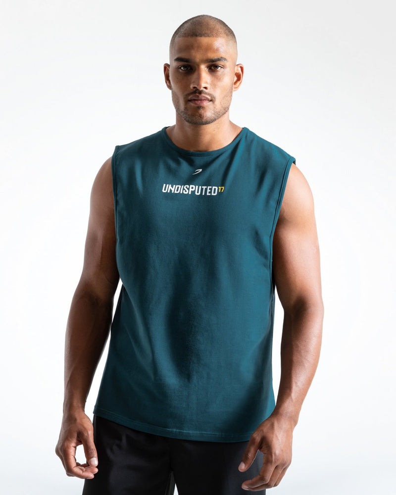 UNDISPUTED17 GRAPHIC MUSCLE TANK GREEN.