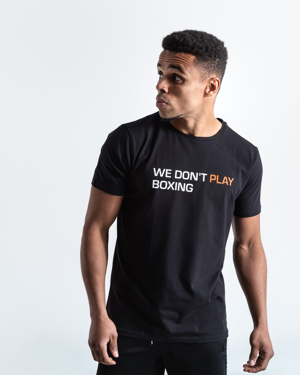 WE DON'T PLAY BOXING T-SHIRT - BLACK - Pandemic Fight Gear Inc.