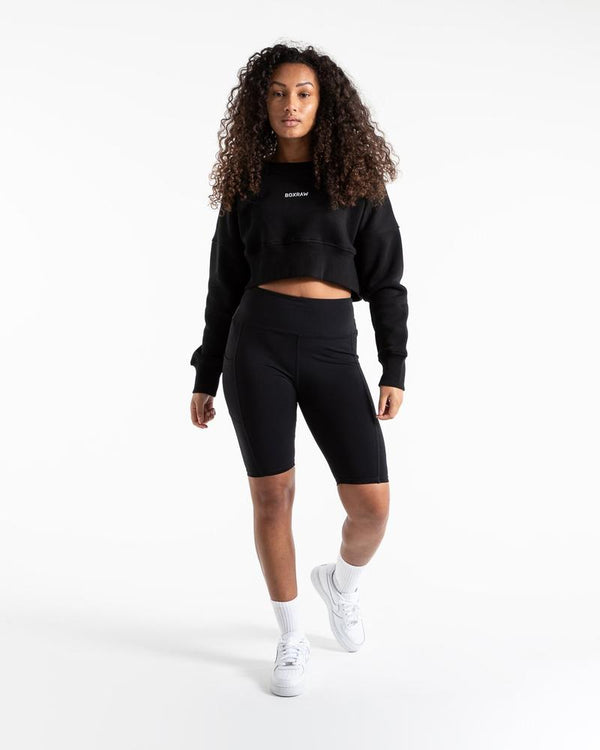 JOHNSON CROPPED SWEATSHIRT - BLACK.