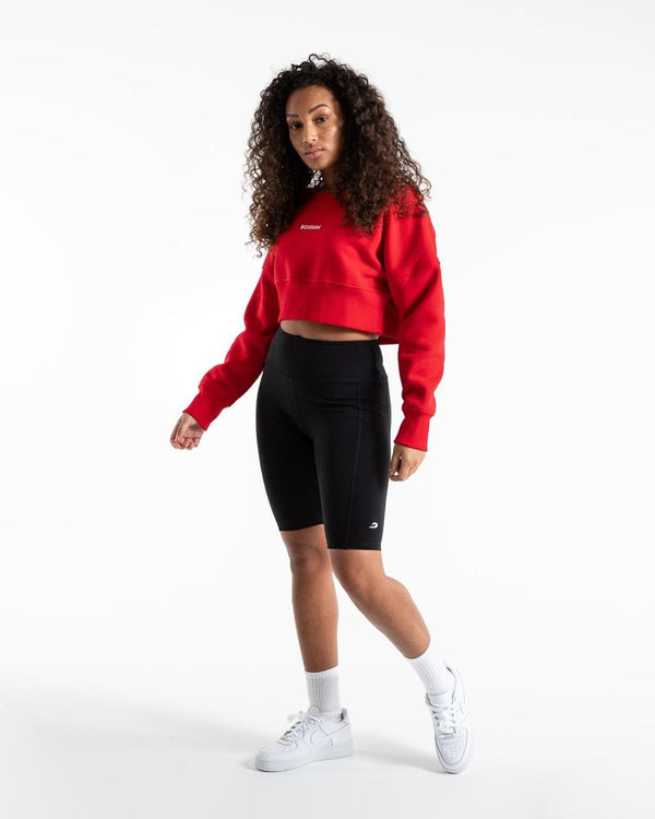 JOHNSON CROPPED SWEATSHIRT - RED.