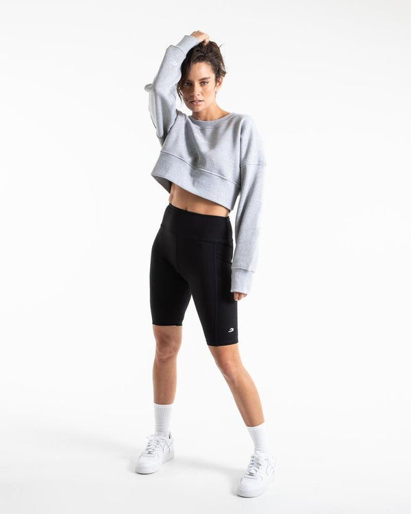JOHNSON CROPPED SWEATSHIRT - GREY.