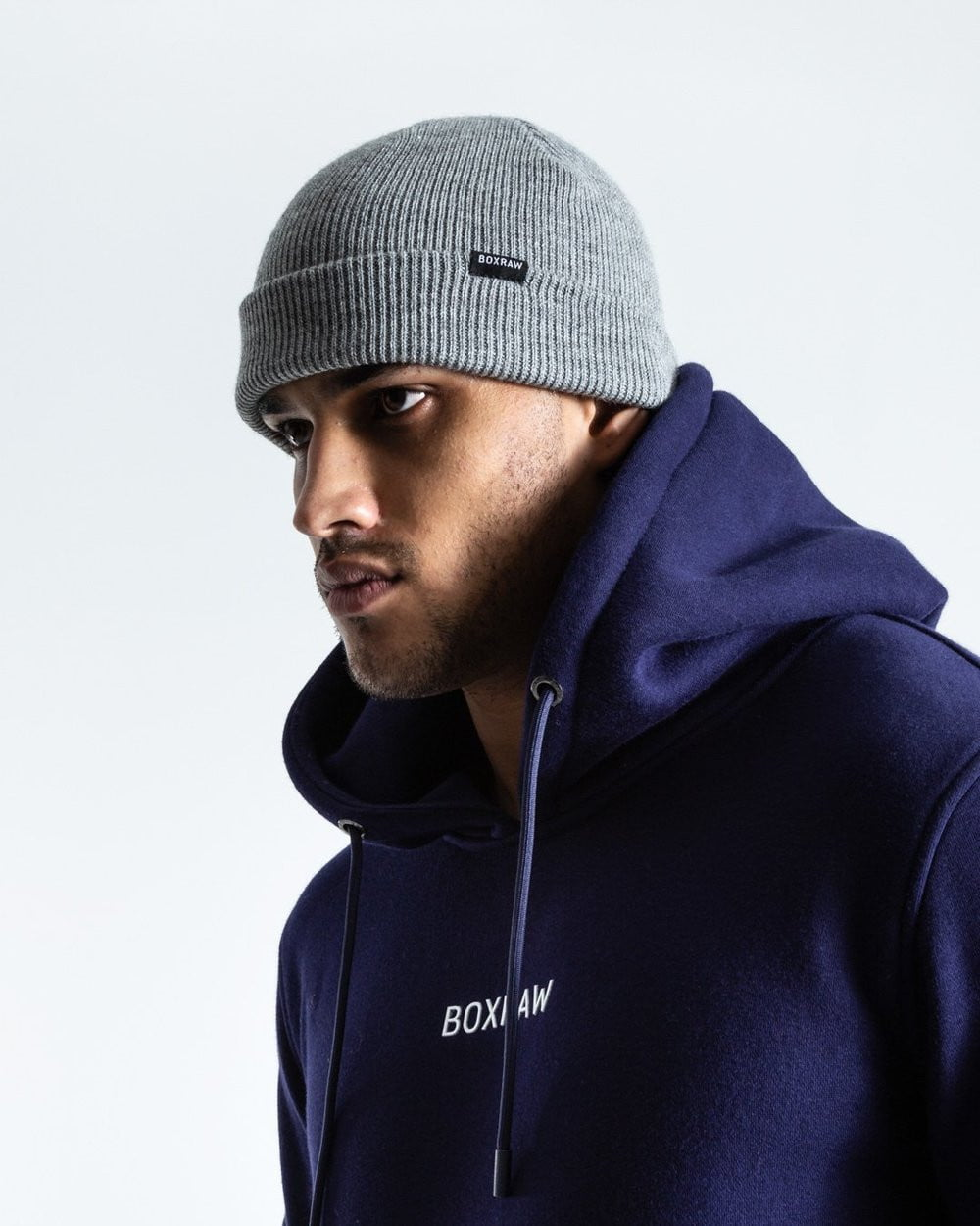 BOXRAW BEANIE HAT - GREY - Pandemic Fight Gear Inc.
