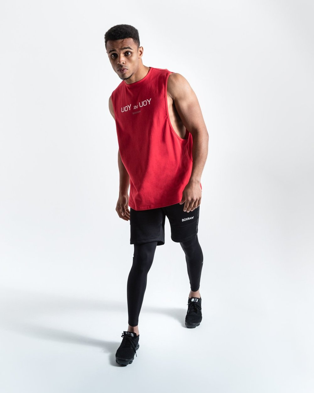 YOU VS. YOU MUSCLE TANK - RED - Pandemic Fight Gear Inc.