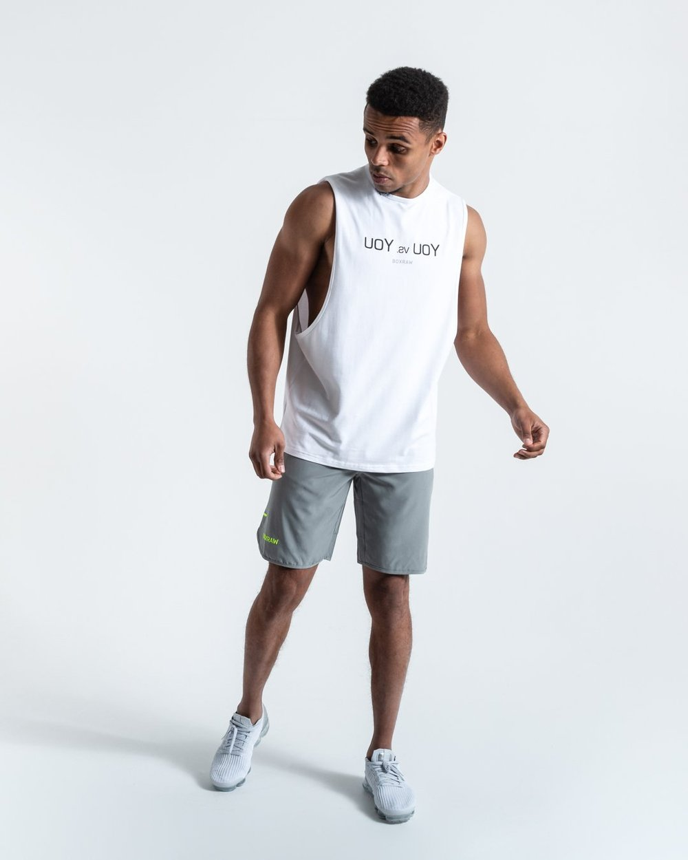 YOU VS. YOU MUSCLE TANK - WHITE - Pandemic Fight Gear Inc.