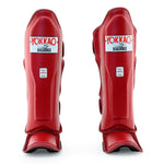 MATRIX BIKING RED SHIN GUARDS - Pandemic Fight Gear Inc.