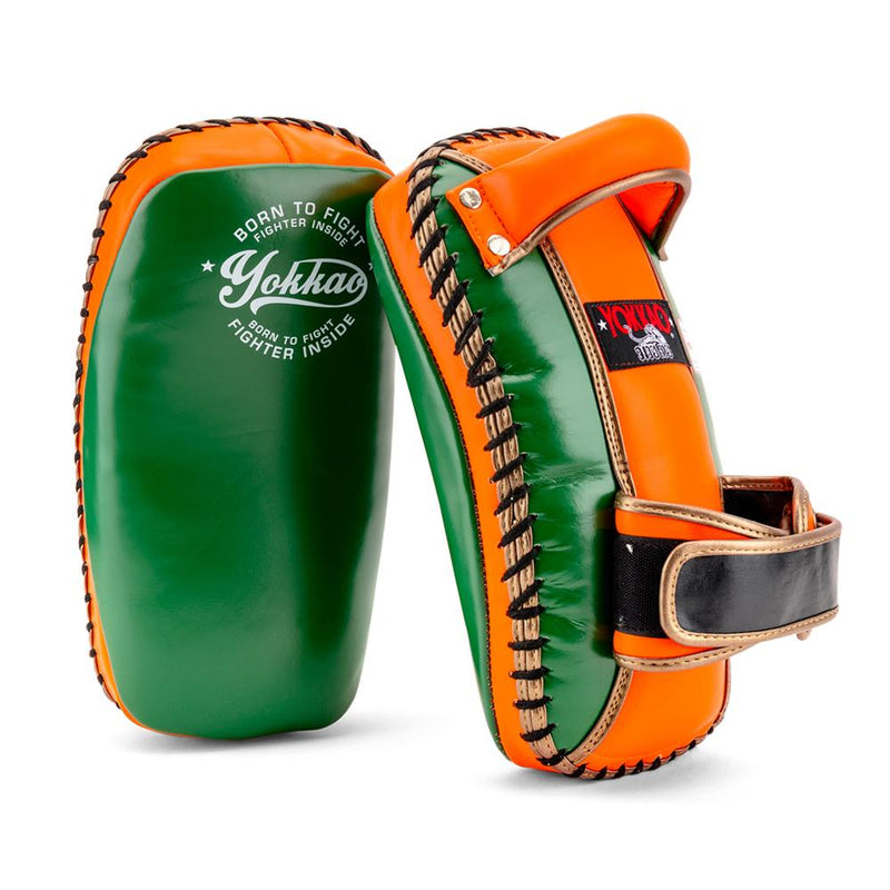 YOKKAO FREE STYLE KICKING PADS VINTAGE - EDEN/ORANGE TIGER