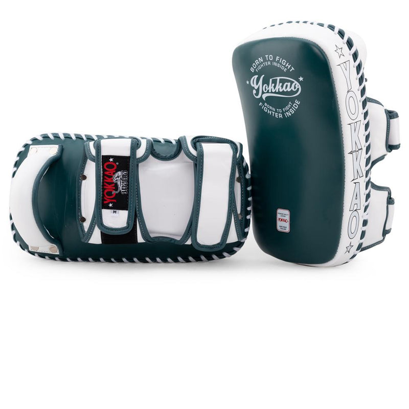 YOKKAO CURVED KICKING PADS - MATRIX GREEN