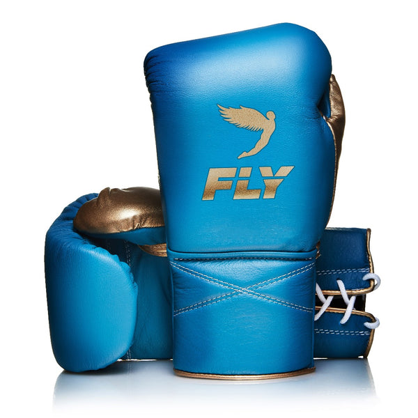 SUPERLACE TRAINING GLOVES - AQUA/MATT GOLD