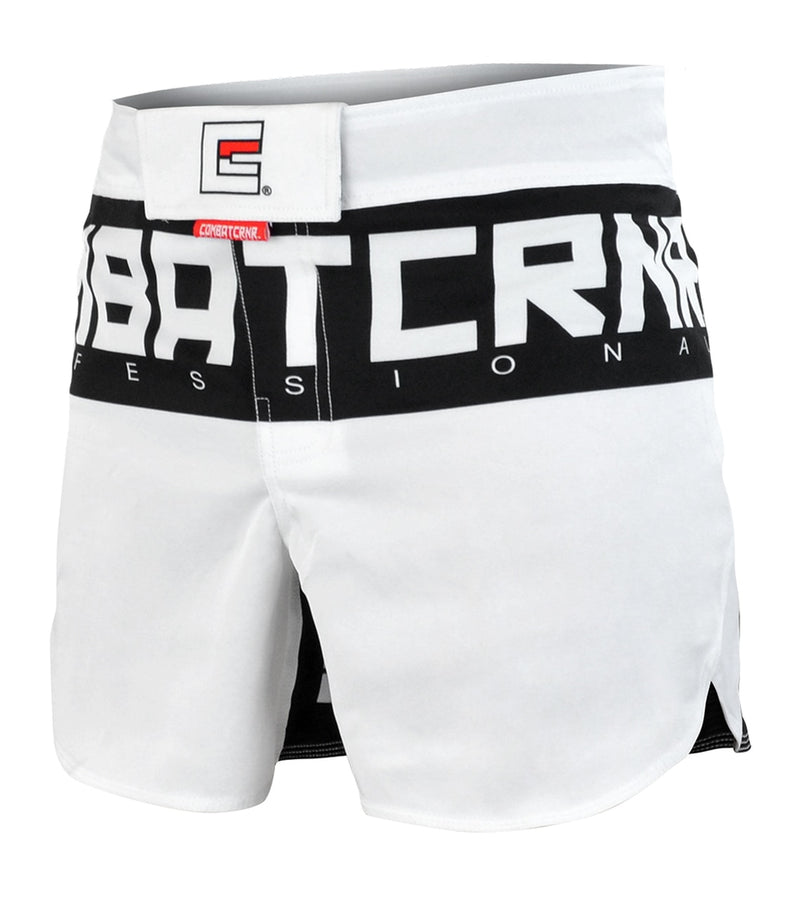 SUPREME HYBRID FIGHT SHORTS - WHITE.
