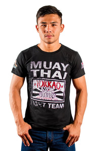 YOKKAO FIGHT TEAM T-SHIRT -  BLACK - Pandemic Fight Gear Inc.