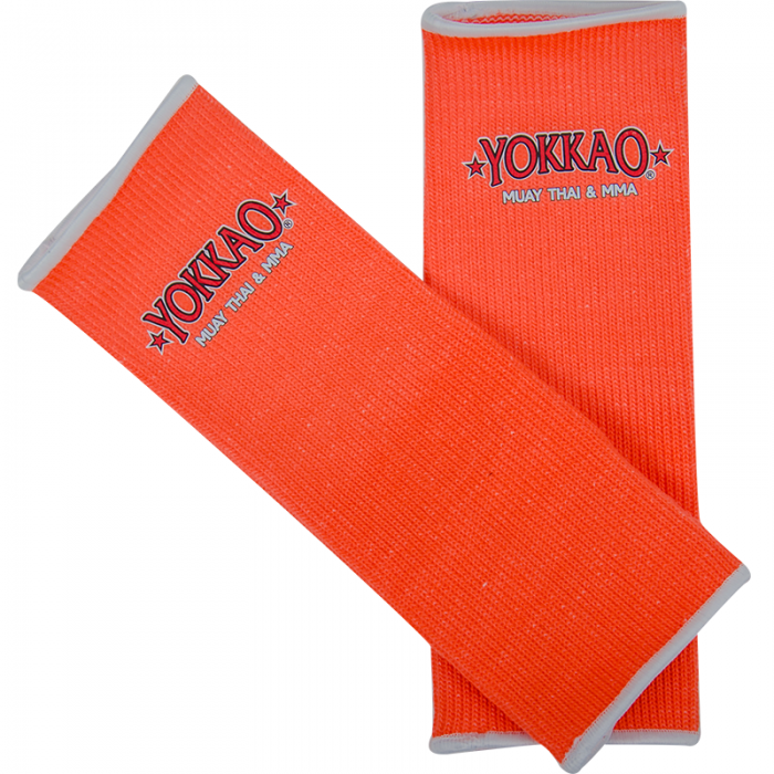 YOKKAO ANKLE GUARDS NEON ORANGE - Pandemic Fight Gear Inc.