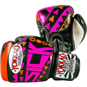 SICK MUAY THAI BOXING GLOVES ORANGE/PINK - Pandemic Fight Gear Inc.