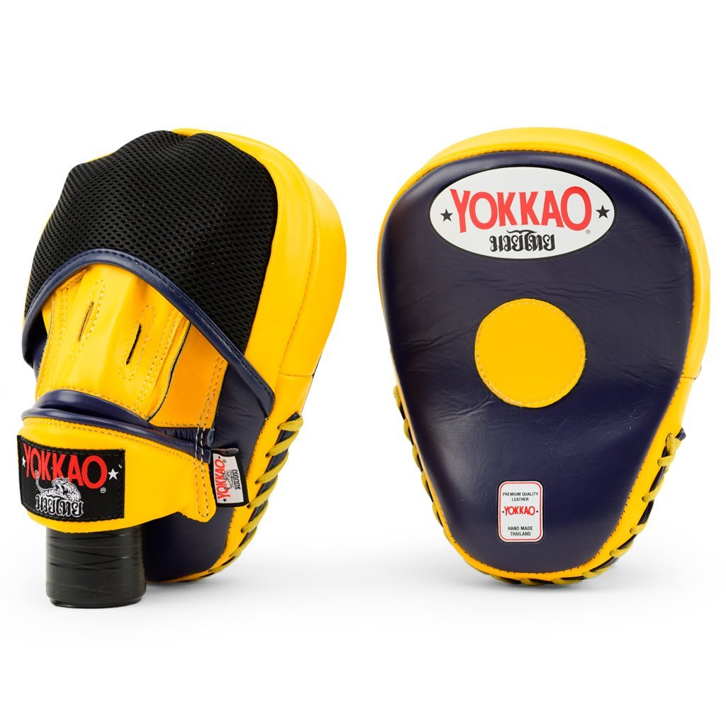 YOKKAO FOCUS MITTS CLOSE-FINGER - EVENING BLUE/GOLD FUSION