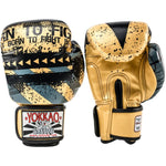 HUSTLE GOLD/BLACK MUAY THAI GLOVES - Pandemic Fight Gear Inc.