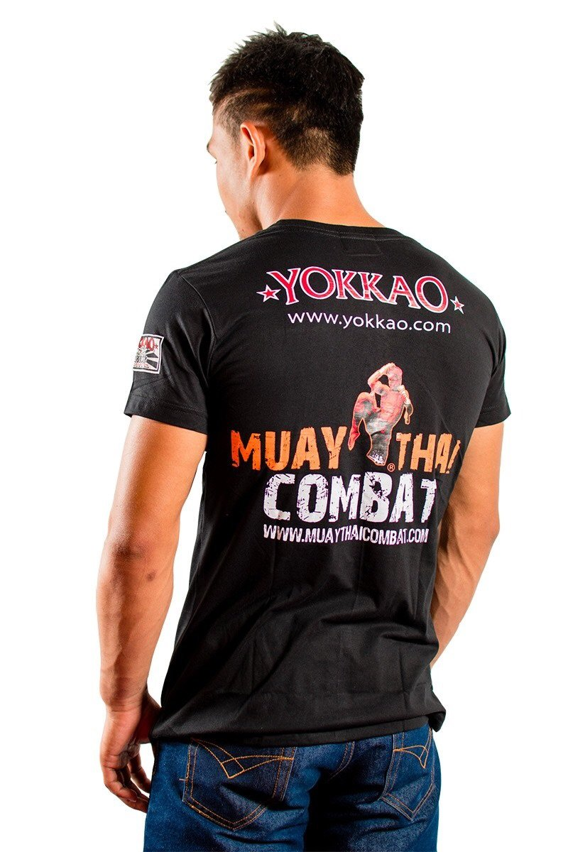 YOKKAO FIGHT TEAM T-SHIRT -  BLACK