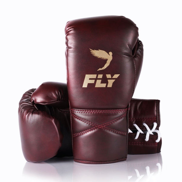 SUPERLACE TRAINING GLOVES - OXBLOOD.