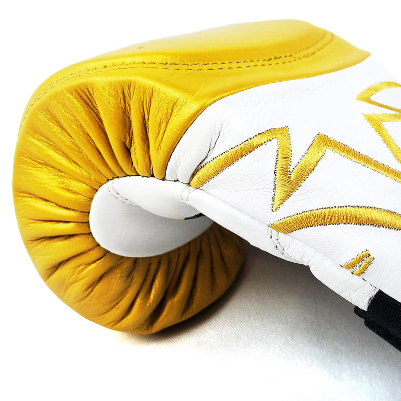 RIVAL RFX-GUERRERO INTELLI-SHOCK BAG GLOVES UNDISPUTED EDITION - WHITE/GOLD.