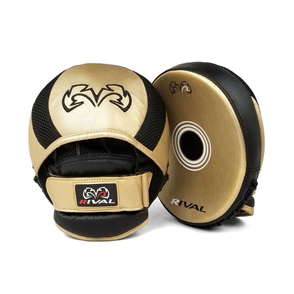 RIVAL RPM11 EVOLUTION PUNCH MITTS - GOLD/BLACK