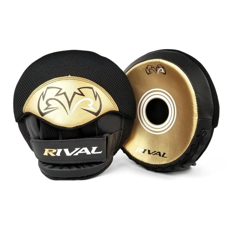RIVAL RPM5 PARABOLIC PUNCH MITTS - BLACK/GOLD