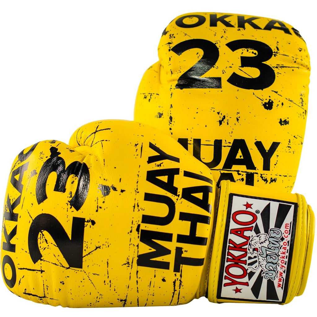 YOKKAO URBAN BOXING GLOVES - YELLOW - Pandemic Fight Gear Inc.