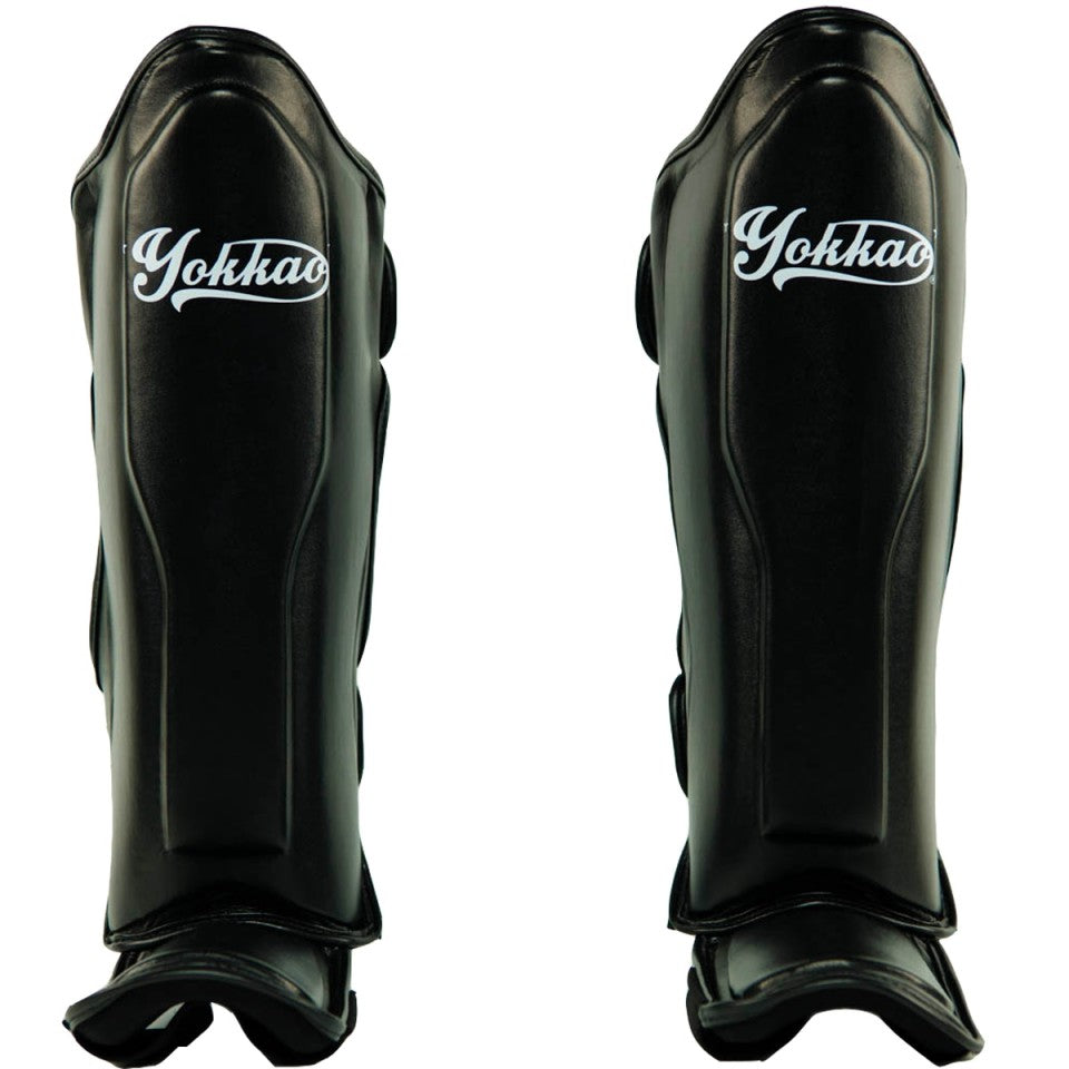 VERTIGO BLACK SHIN GUARDS - Pandemic Fight Gear Inc.