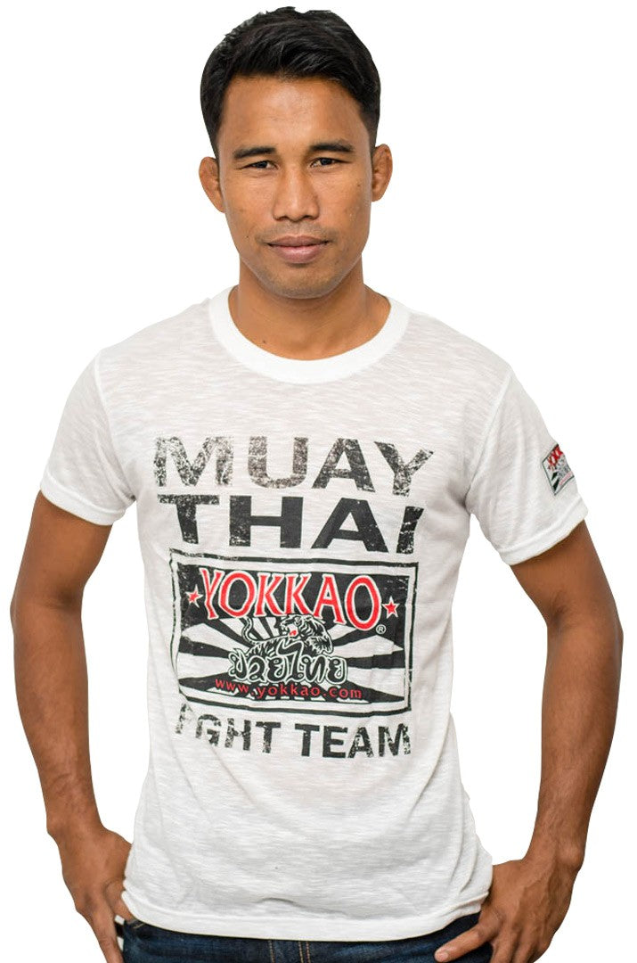 YOKKAO FIGHT TEAM T-SHIRT -  WHITE - Pandemic Fight Gear Inc.