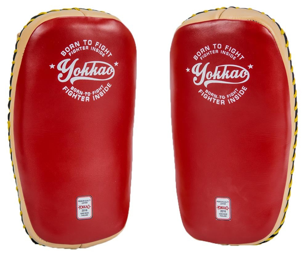 YOKKAO CURVED KICKING PADS - VINTAGE RED