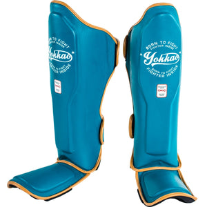 YOKKAO VINTAGE BLUE SHIN GUARDS - Pandemic Fight Gear Inc.