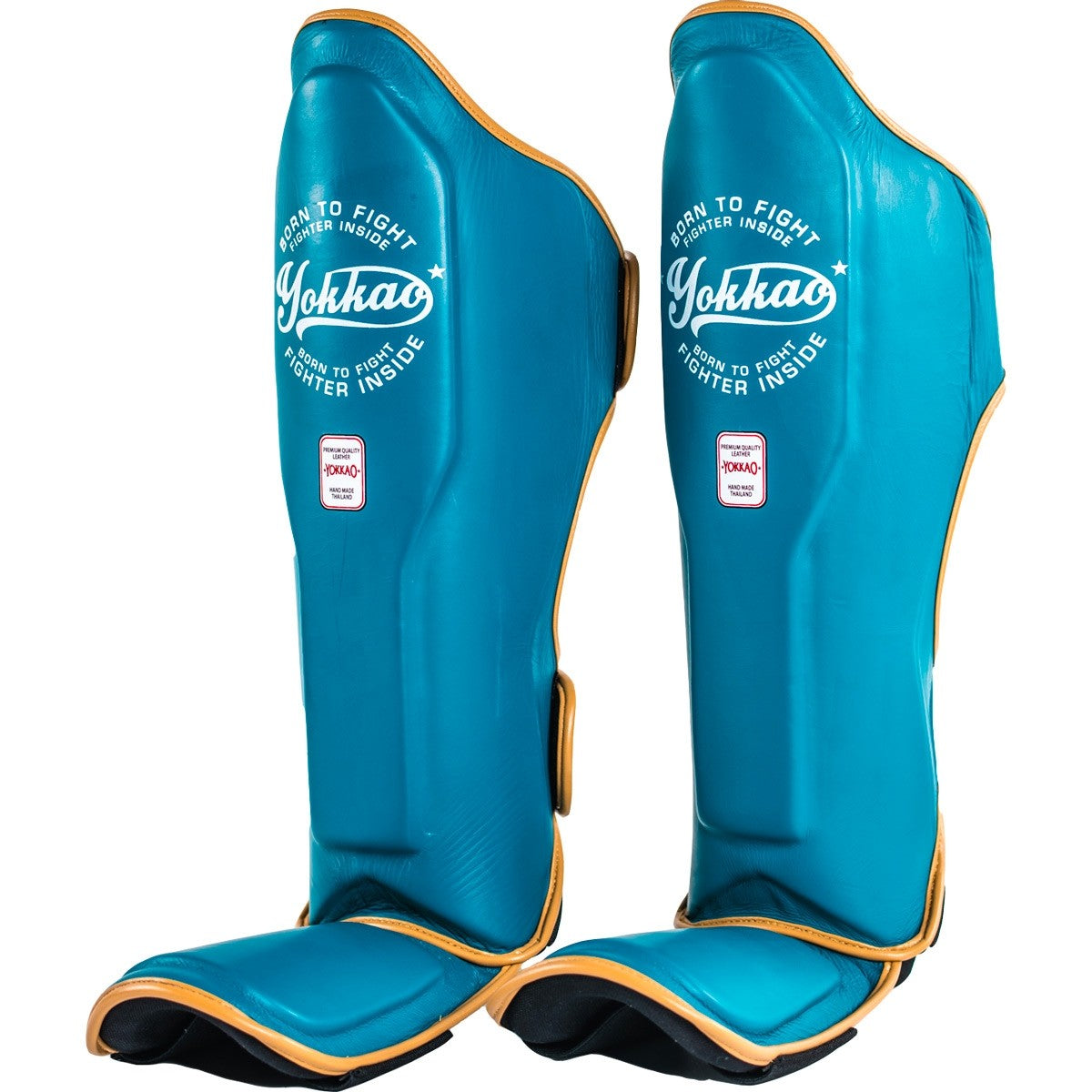 YOKKAO VINTAGE BLUE SHIN GUARDS